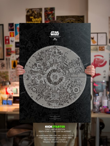 A1 poster Proto Star Wars Death Star